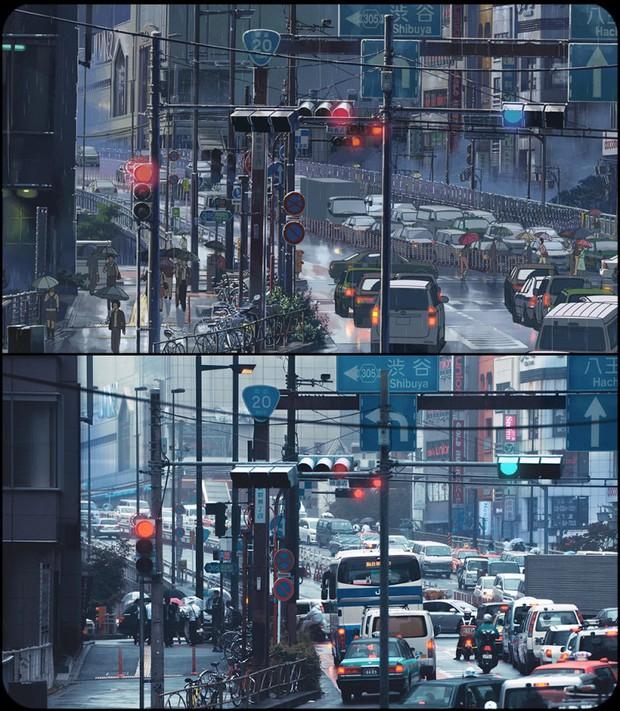 Chùm ảnh Tokyo long lanh, giống thật đến kinh ngạc ở anime The Garden of Words: Vẻ đẹp trĩu nặng của sự cô đơn giữa thành phố lớn - Ảnh 3.