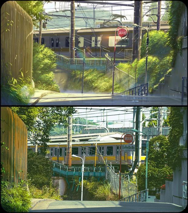 Chùm ảnh Tokyo long lanh, giống thật đến kinh ngạc ở anime The Garden of Words: Vẻ đẹp trĩu nặng của sự cô đơn giữa thành phố lớn - Ảnh 6.