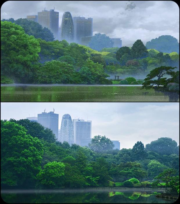 Chùm ảnh Tokyo long lanh, giống thật đến kinh ngạc ở anime The Garden of Words: Vẻ đẹp trĩu nặng của sự cô đơn giữa thành phố lớn - Ảnh 8.