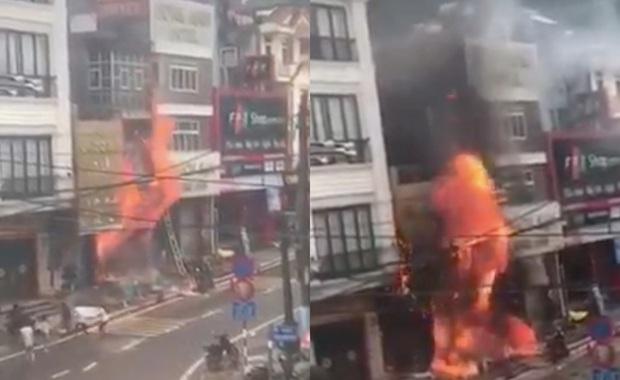 Sapa: Cháy nổ lớn ở cửa hàng bán gas, thiêu rụi cả nhà hàng xóm - Ảnh 1.