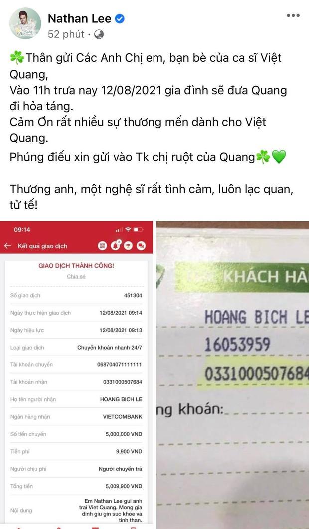 Tang lễ gấp rút của ca sĩ Việt Quang: Không kèn trống, khâm liệm tại nhà riêng, xót xa nụ cười người quá cố trên di ảnh - Ảnh 6.