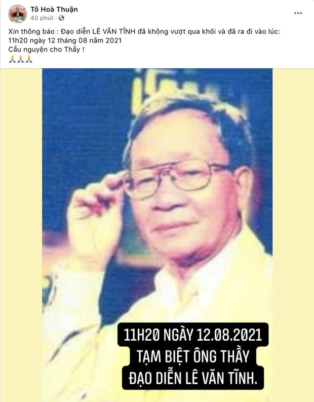 Đạo diễn Lê Văn Tĩnh qua đời sau thời gian điều trị Covid-19, 2 thành viên trong gia đình đều đang nhiễm bệnh - Ảnh 3.