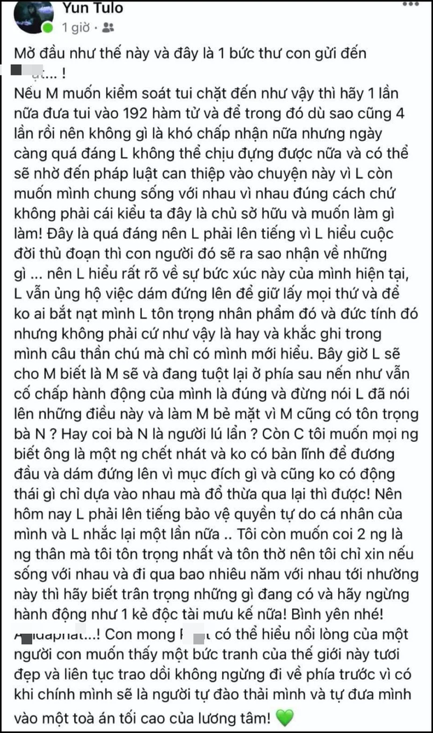 Hoài Lâm gây sốc khi đăng tâm thư dài cực căng: Tiết lộ từng 4 lần vào viện tâm thần, còn cảnh cáo cả người thân? - Ảnh 3.