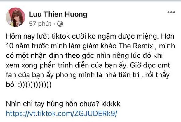 """Lưu Thiên Hương 6 năm trước từng nhận xét 1 câu về Sơn Tùng M-TP, netizen đào lại phong luôn danh hiệu """"tiên tri"""" - Ảnh 5."""