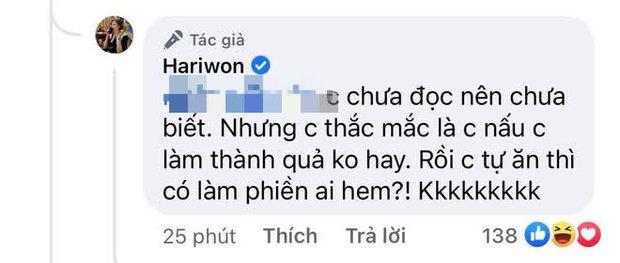 """Bị chỉ trích cố tỏ ra vụng về để làm màu gây chú ý, Hari Won tỉnh bơ đáp trả 1 câu nghe xong """"không chịu cũng phải chịu""""! - Ảnh 3."""