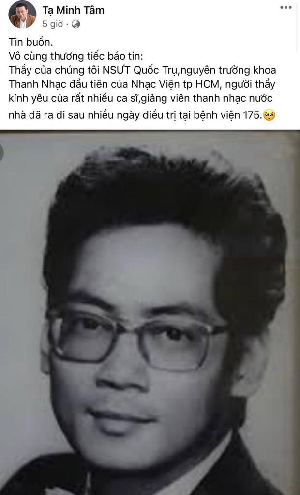NSƯT Đào Quốc Trụ - bố dượng của Hoa hậu Hà Kiều Anh qua đời, Hiền Thục và NSND Tạ Minh Tâm xót xa báo tin - Ảnh 3.