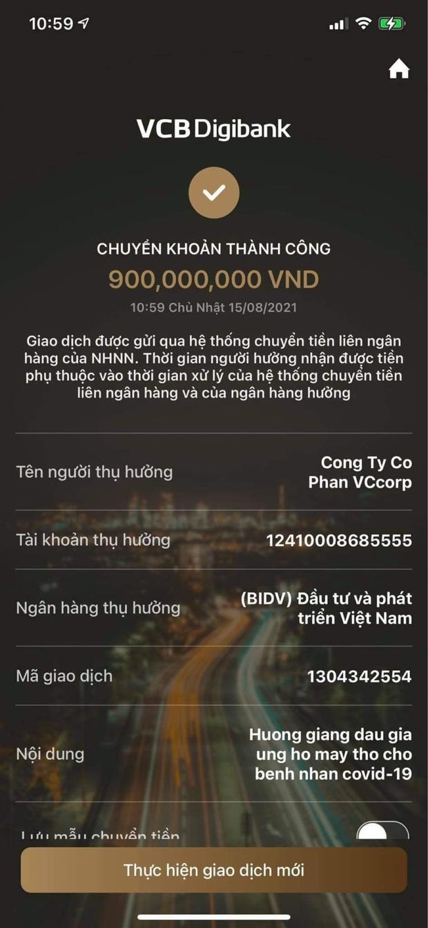 Nói là làm, Hương Giang chuyển nóng 900 triệu đồng mua đồng hồ Hublot của BTV Ngọc Trinh để quyên góp chống dịch - Ảnh 3.