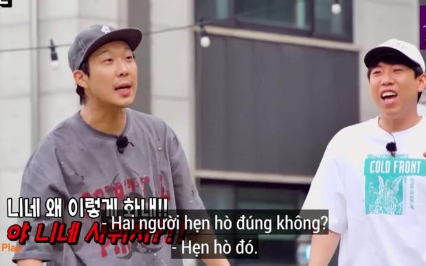 Kim Jong Kook giận đỏ mặt, Song Ji Hyo chửi um khi bị dàn cast Running Man trêu chuyện quay vlog cùng nhau - Ảnh 9.