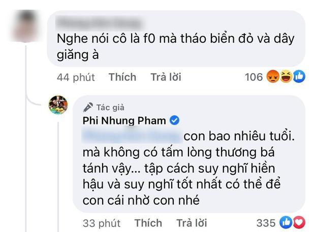 Phi Nhung bị netizen hỏi thẳng nghe nói cô là F0 mà tháo biển đỏ và dây giăng, chính chủ lên tiếng ngay và luôn! - Ảnh 3.