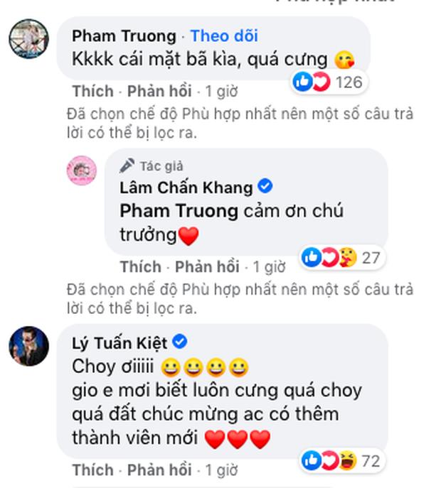 Lâm Chấn Khang bất ngờ công khai diện mạo con gái sau 2 năm giấu kín, dào sao Việt vỡ oà chúc mừng - Ảnh 3.