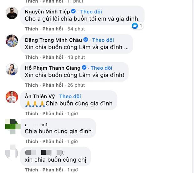 Hoa hậu Thùy Lâm thông báo gia đình có người qua đời, Minh Tiệp và dàn sao đồng loạt chia buồn - Ảnh 3.