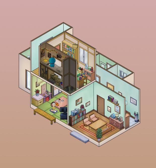 Đừng nói Nobita nghèo nữa, nghe giá căn nhà gia đình Nobi ở mà hú hồn luôn! - Ảnh 2.