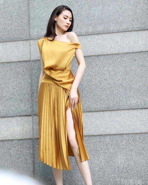 Hà Trúc mách chị em bộ váy thiết kế sang chảnh hack eo bé hông to, che bắp tay, hóa ra Hòa Minzy đã chấm trước - Ảnh 3.