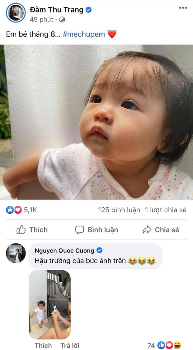 """Ái nữ của Đàm Thu Trang mới 1 tuổi mà toát ra vẻ """"con nhà nòi"""": Tạo dáng như model, lộ hậu trường chụp ảnh nhìn cưng xỉu! - Ảnh 2."""