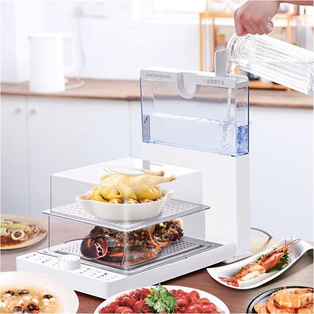 Chị em đang hóng chiếc máy hấp nội địa Trung siêu hay: Có 3 tầng nhưng gấp gọn lại chỉ bằng chiếc bếp từ đơn - Ảnh 2.