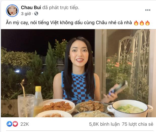 Châu Bùi bị ném đá khi livestream đọc tiếng Việt không dấu với loạt nội dung gây lú, dễ hiểu thành thô tục - Ảnh 1.