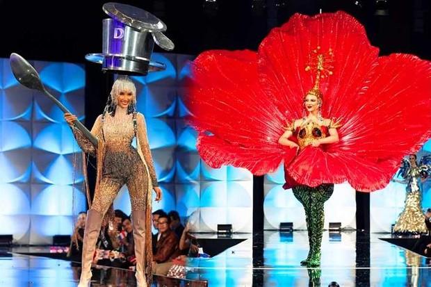 Hoàng Thùy từng định dùng ca dao hoa dâm bụt tại Miss Universe, lí do thay đổi liên quan tới một người đẹp khác? - Ảnh 3.