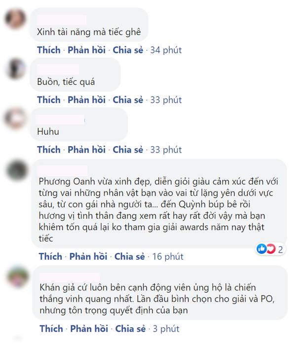 Phương Oanh (Hương Vị Tình Thân) tiếp tục rút khỏi đề cử VTV Awards, khóa cả bình luận để netizen khỏi phải bàn - Ảnh 5.