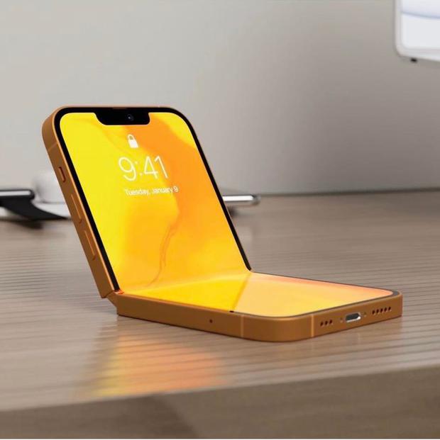 Rò rỉ concept iPhone 13 với thiết kế gập cực kỳ lạ mắt - Ảnh 1.