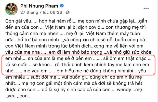 Phi Nhung bất ngờ thông báo lỡ hẹn sang Mỹ và thất hứa với con gái vì 1 lý do - Ảnh 5.