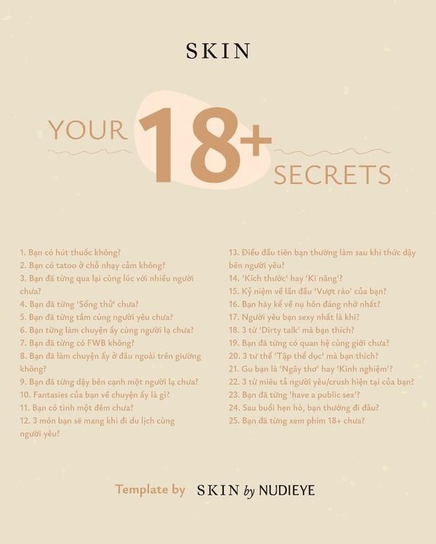 Tâm sự 18+: Đỏ mặt với trend tiết lộ bí mật người lớn của dân mạng, từ lần đầu vượt rào đến gu đều rep hết - Ảnh 1.