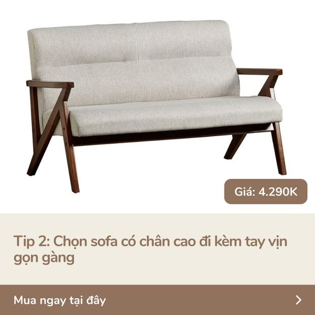5 tips với ghế sofa giúp nhà chật nhìn rộng hơn và sang lên vài bậc - Ảnh 3.