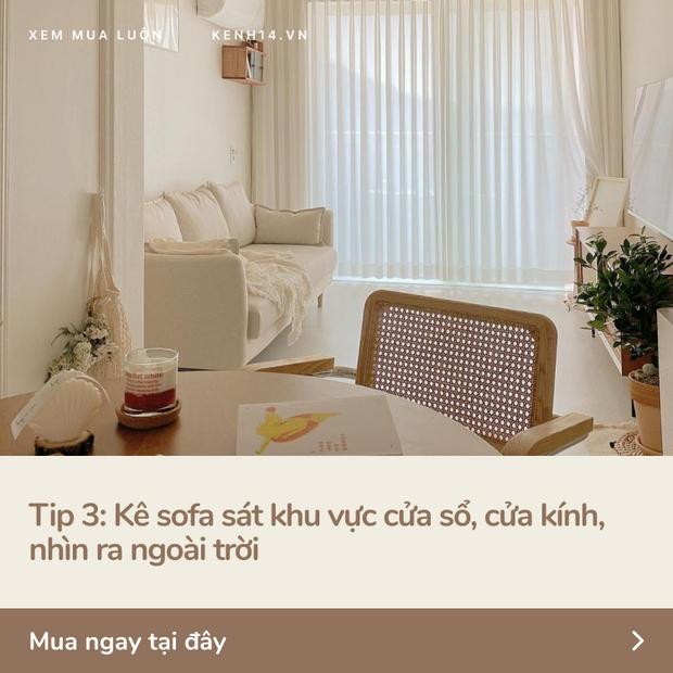 5 tips với ghế sofa giúp nhà chật nhìn rộng hơn và sang lên vài bậc - Ảnh 4.
