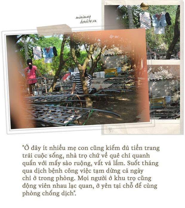 Khu ổ chuột Hà Nội những ngày giãn cách: Người dân sống nhờ gạo cứu trợ nhưng vẫn còn đó những nụ cười lạc quan - Ảnh 4.