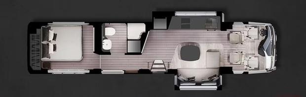Bên trong mobihome khổng lồ 2 triệu USD: Có khoang để siêu xe Ferrari, nội thất như du thuyền trên cạn - Ảnh 3.