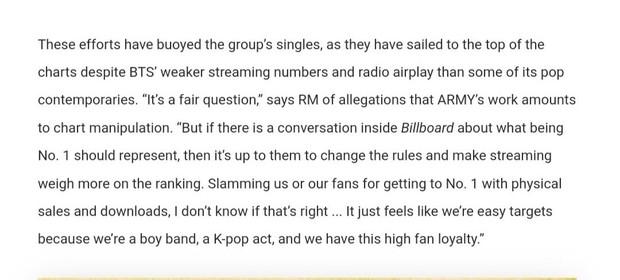 RM phản bác cực gắt trước cáo buộc BTS thao túng No.1 Billboard: BXH có quyền đổi luật, lý do gì khiến nhóm trở thành mục tiêu? - Ảnh 3.