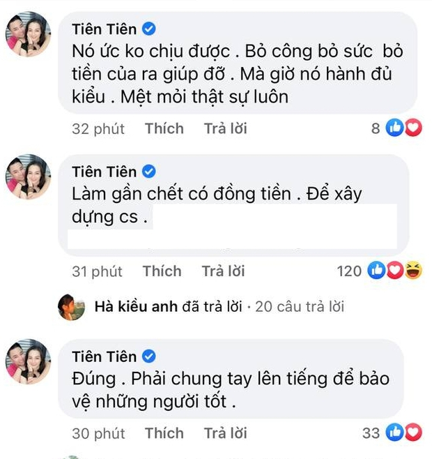 Bà xã Hữu Công nhiệt tình để lại bình luận ở livestream của Thuỷ Tiên, có động thái khi thấy vợ Công Vinh bật khóc! - Ảnh 4.