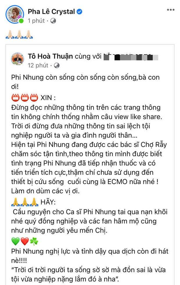 Bệnh tình Phi Nhung chuyển biến nhanh: Phải thở máy, lọc máu và qua đời sau hơn 1 tháng chuyển viện Chợ Rẫy để điều trị - Ảnh 10.