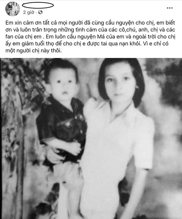 Em ruột Phi Nhung nguyện giảm tuổi thọ để cầu xin cho chị tai qua nạn khỏi - Ảnh 2.