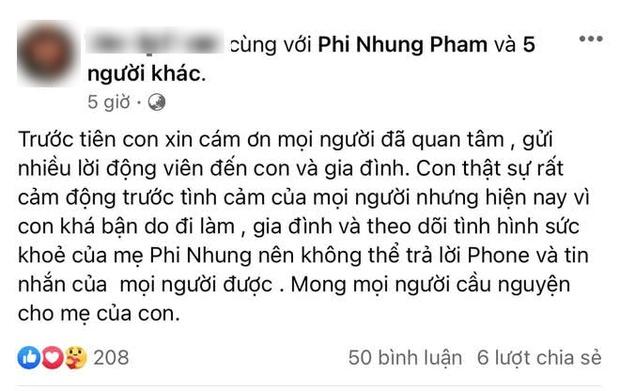 Con gái Phi Nhung lộ diện buồn bã, chạy xe 6 tiếng làm 1 việc gây xúc động trong lúc mẹ đang điều trị Covid-19 - Ảnh 5.
