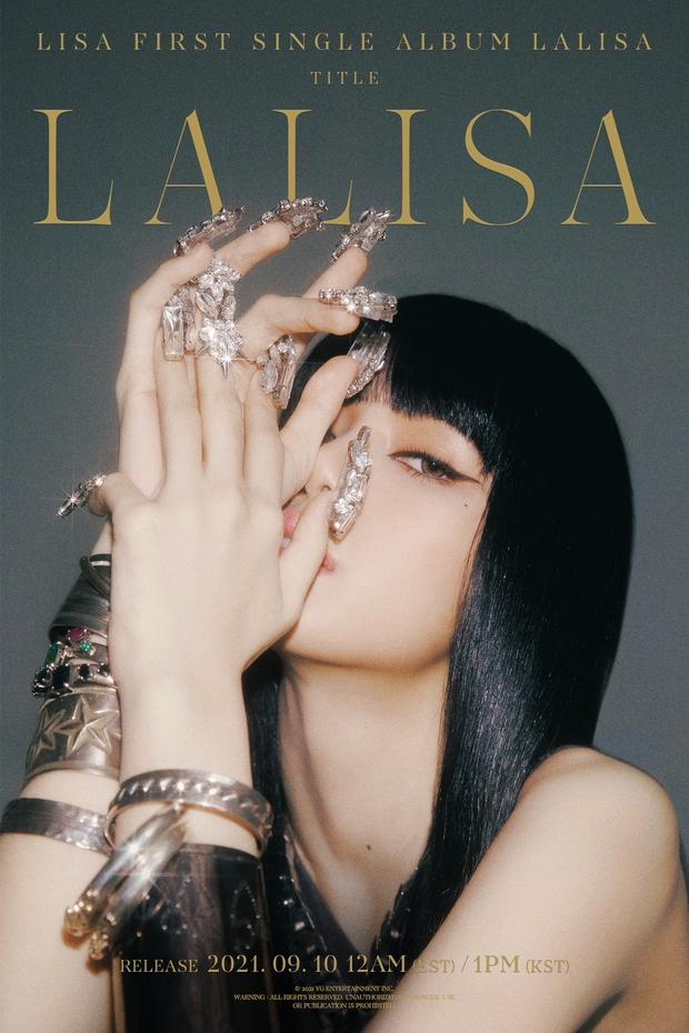Lisa (BLACKPINK) tung poster nhưng bộ vuốt lồng lộn mới giật spotlight, tiết lộ tên bài chủ đề gây tranh cãi - Ảnh 1.