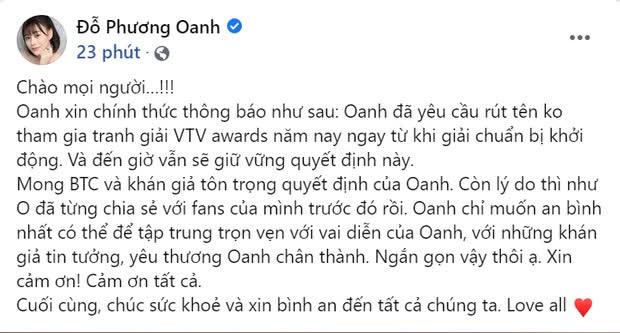 Phương Oanh (Hương Vị Tình Thân): Diễn xuất đơ cứng, tự rút khỏi VTV Awards để tránh gây tranh cãi? - Ảnh 4.