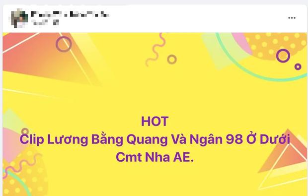 MXH náo loạn vì loạt bài đăng tung link clip sex nghi là của Lương Bằng Quang và Ngân 98, thực hư ra sao? - Ảnh 4.