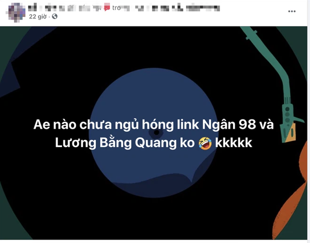 MXH náo loạn vì loạt bài đăng tung link clip sex nghi là của Lương Bằng Quang và Ngân 98, thực hư ra sao? - Ảnh 3.