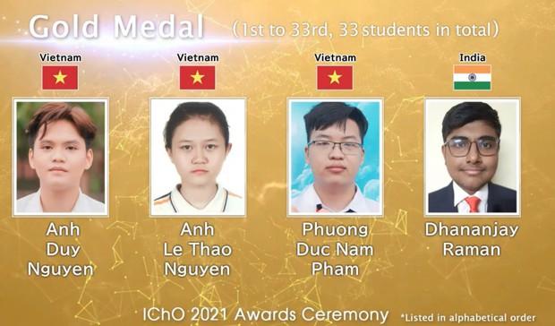 Học sinh Việt Nam thắng lớn tại Olympic Hóa học quốc tế - Ảnh 1.