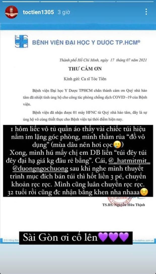 Sân khấu comeback của Tóc Tiên sau mấy tháng thất nghiệp là ở bệnh viện điều trị Covid-19, lâu không hát còn sợ quên lời - Ảnh 12.