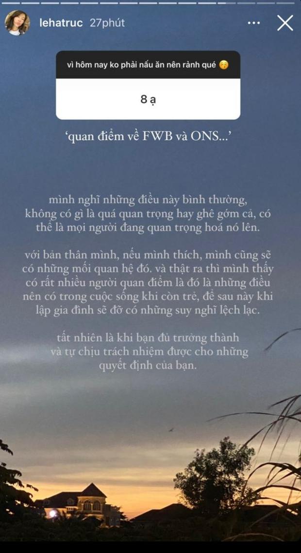 """Sau drama bị gạ làm FWB suốt cả tháng trời, Hà Trúc bỗng thẳng thắn chia sẻ quan điểm về bạn tình """"nếu thích, mình sẽ có"""" - Ảnh 3."""