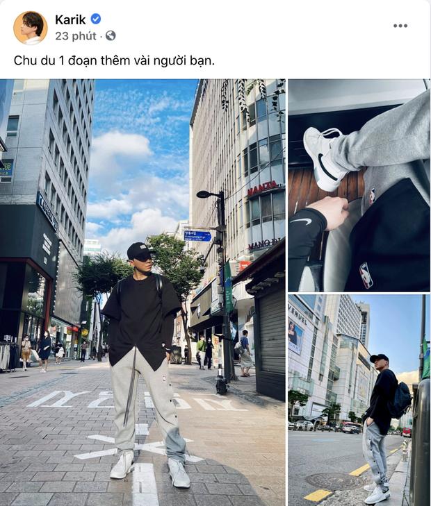 Xả kho loạt ảnh check-in ở Hàn Quốc, Karik được cõi mạng rần rần gọi bằng chồng vì visual đỉnh - Ảnh 2.
