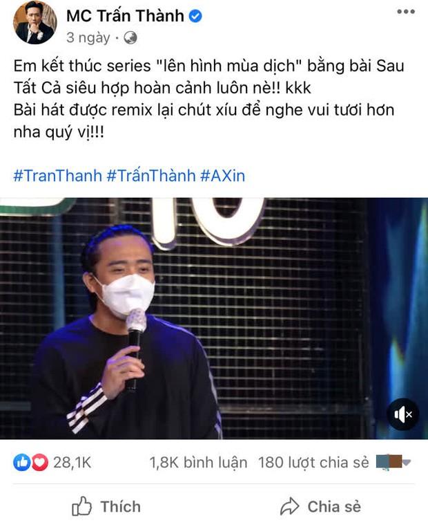 Động thái của Trấn Thành giữa lúc bị netizen tổng tấn công vì ai đó gọi tên, yêu cầu sao kê tiền quyên góp từ thiện - Ảnh 3.