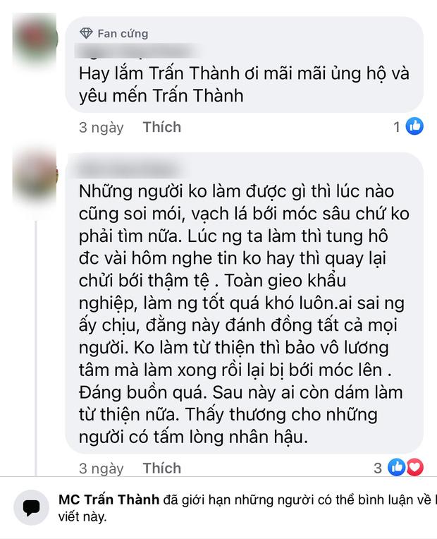 Động thái của Trấn Thành giữa lúc bị netizen tổng tấn công vì ai đó gọi tên, yêu cầu sao kê tiền quyên góp từ thiện - Ảnh 5.