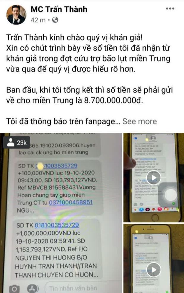 Netizen tổng tấn công đòi sao kê từ thiện, phát ngôn của Trấn Thành hot lại: Phải giải trình thì thà tụi em không làm, đó không phải nhiệm vụ - Ảnh 7.