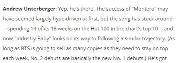 Phó Tổng biên tập Billboard vả cực mạnh vào fan BTS: Miễn là BTS bán đủ đĩa thì họ cứ #1, về cơ bản #2 bây giờ mới chính là #1 thật - Ảnh 3.