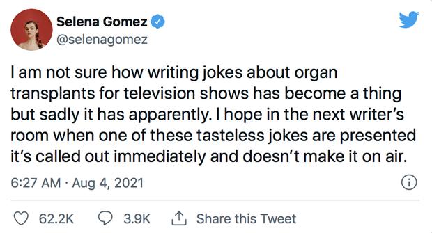 Selena Gomez bị công khai đùa cợt về ca ghép thận trong quá khứ, bức xúc tế sống và chấn chỉnh bộ phim vô duyên - Ảnh 1.