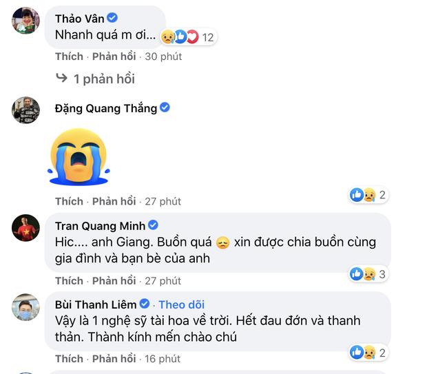 Trà My, Minh Tiệp và dàn sao Việt bàng hoàng nghe tin NS Giang Còi qua đời: Vĩnh biệt anh, mãi mãi 1 tuổi thơ! - Ảnh 3.