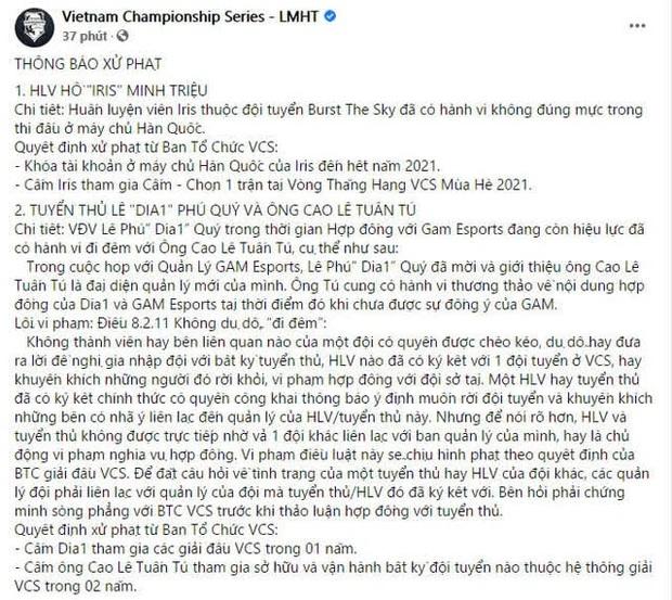 Dia1 đổi nickname rank Hàn thành VinhCS, công khai cà khịa chủ cũ của GAM trong thời gian thực hiện án phạt - Ảnh 2.