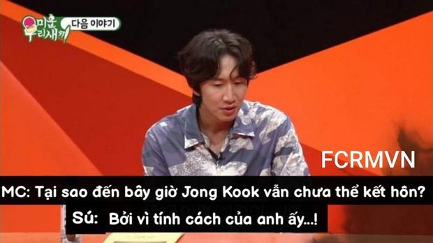Lee Kwang Soo thẳng thừng chê Kim Jong Kook xấu trai nên khó kết hôn trước mặt mẹ chàng Hổ? - Ảnh 2.